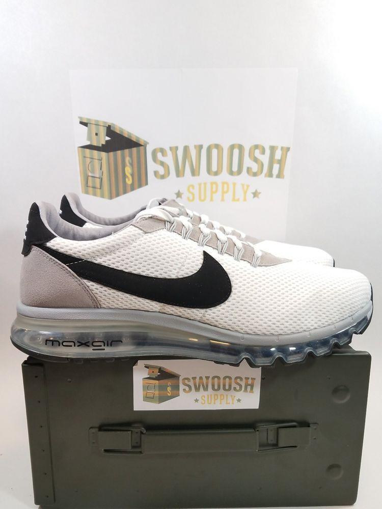 5b5d4eba14 Nike Men's Size 13 Air Max LD-Zero 848624 101 NEW White/Black/Grey Sneakers  #Nike #RunningCrossTraining