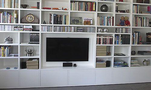 Wandmeubels Op Maat Voor Tv En Geluidsapparatuur Libraries