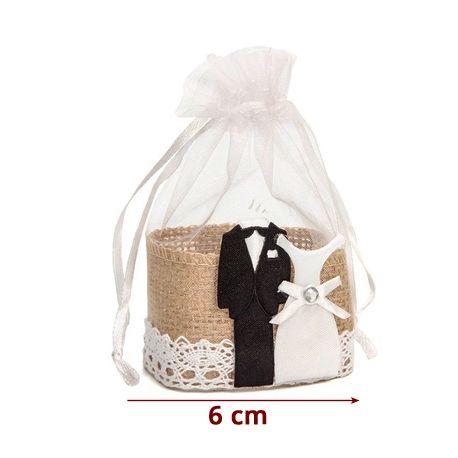para Guardar Detalles de Bodas para Dulces bautizos 10x13 50 Bolsas de Organza Blanca con Cierre de Lazos Caramelos o peque/ños Detalles. comuniones