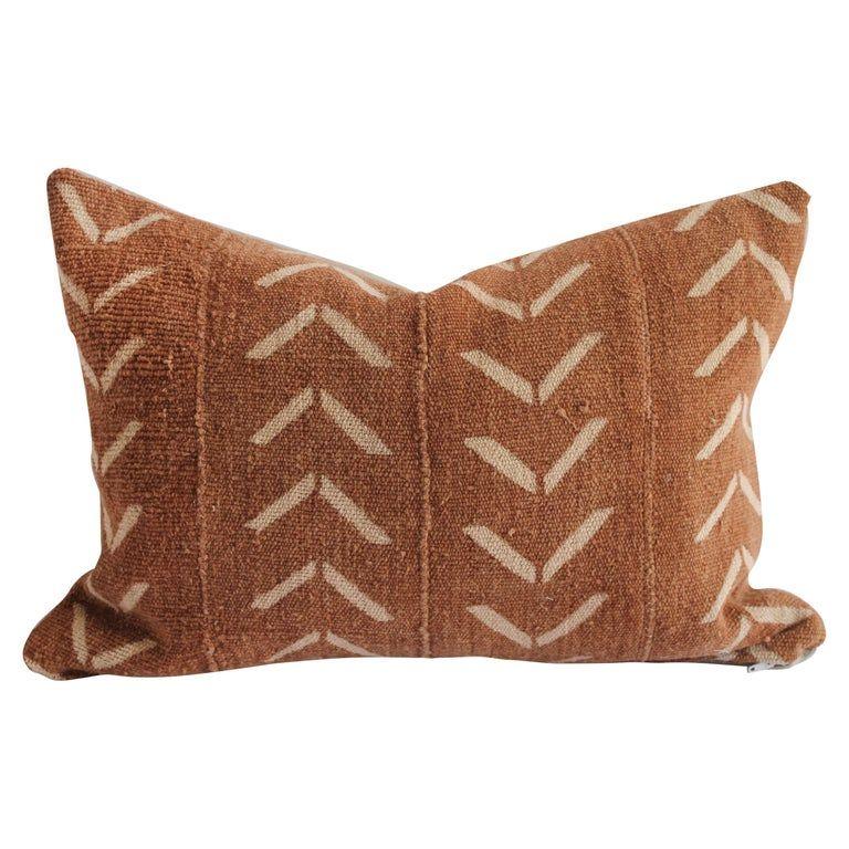 Vintage Mudcloth Lumbar Pillow With Down Insert In 2020 African Mud Cloth Mudcloth Pillow Mud Cloth