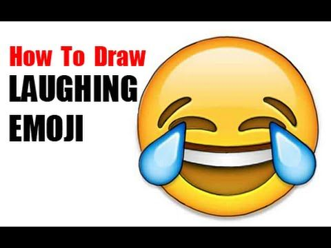Learn How To Draw The Laughing To Tears Emoji That You See All Over The Net It Is Pretty Easy To Draw F Drawing Lessons How To Draw Steps How To