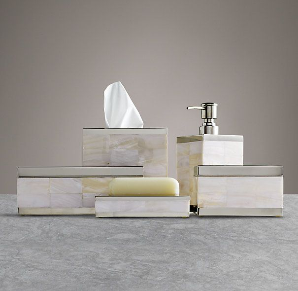 Master Bathroom Accessories mother of pearl accessories collection | 卫浴用品 | pinterest