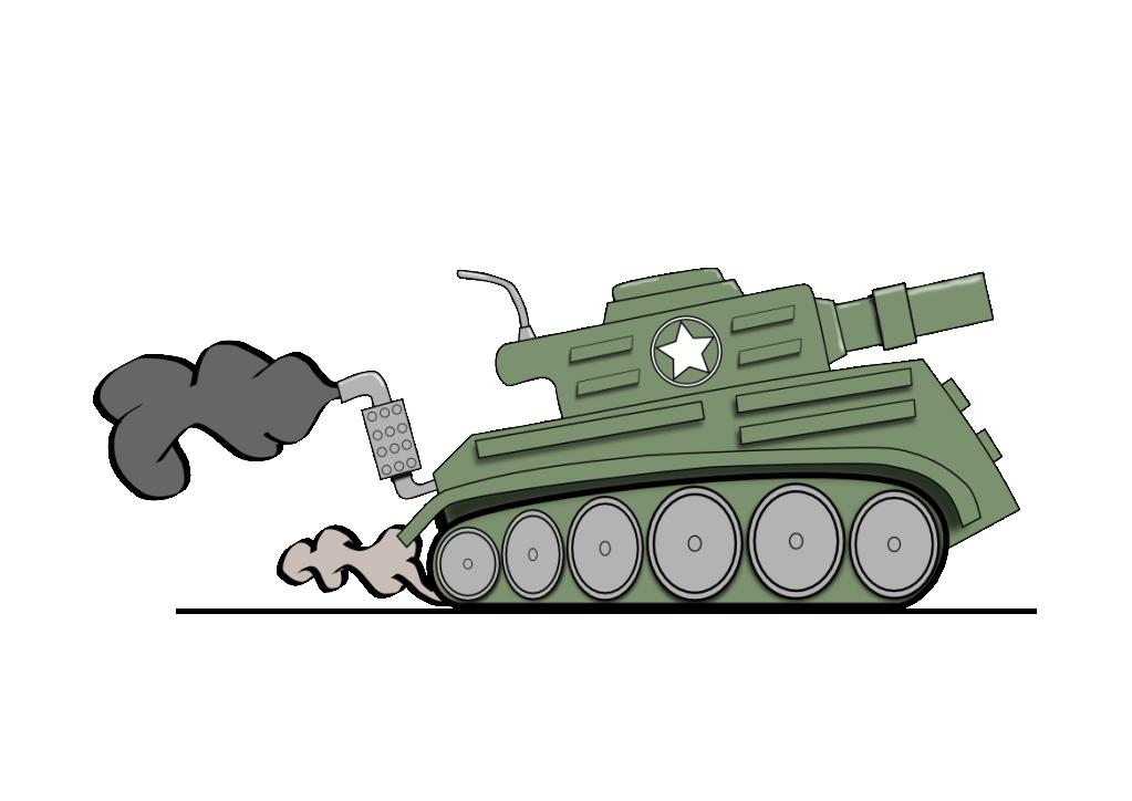 how to draw a cartoon tank