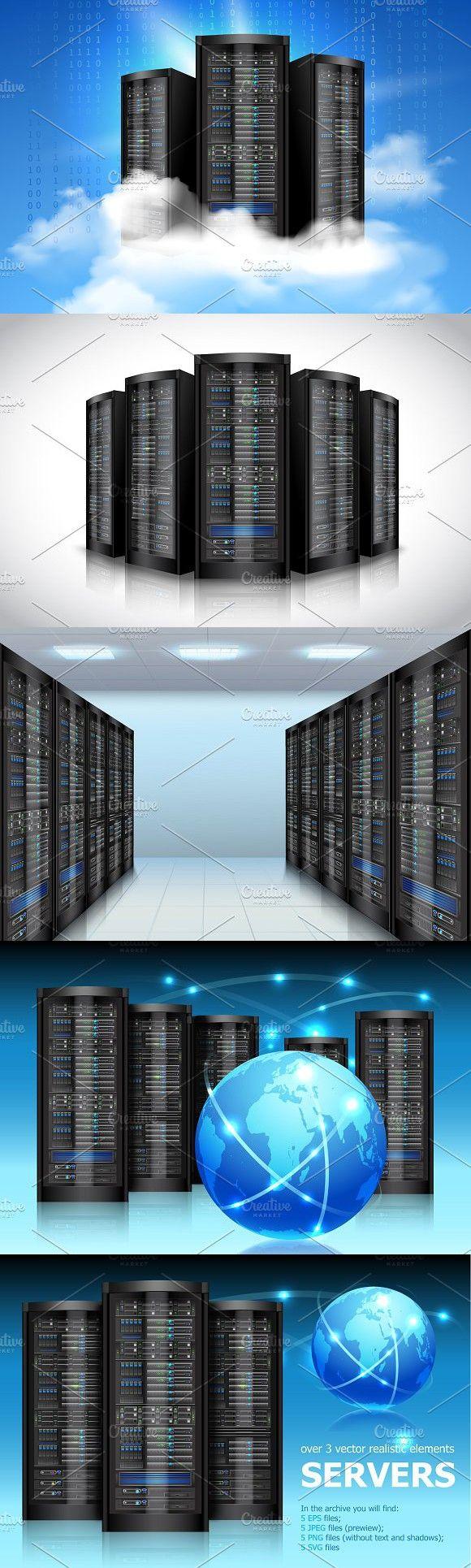Data Servers Realistic Set Server Concept Design Realistic