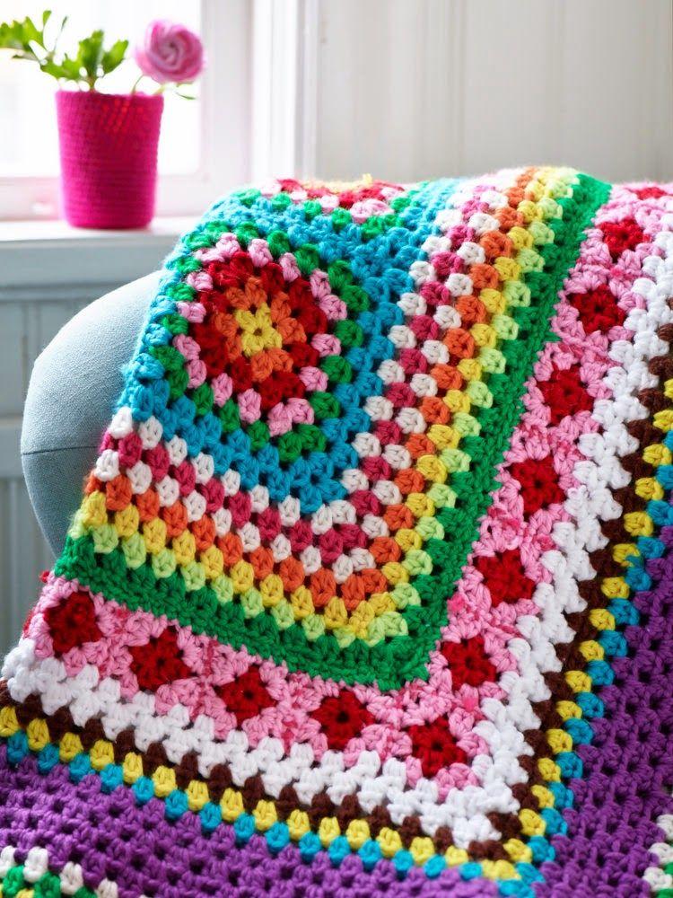 Mil colores alegres!   BLANKETS   Pinterest   Manta, Ganchillo y Tejido