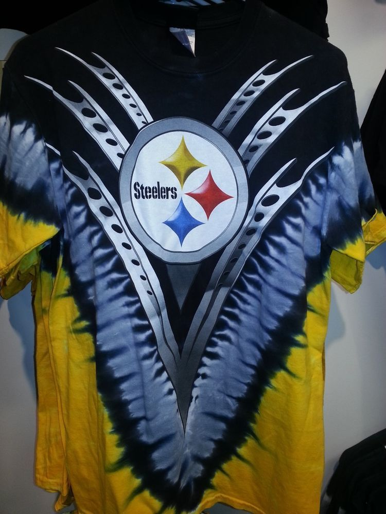PITTSBURGH STEELERS Tie Dye V Dye T-Shirt NFL LICENSED APPAREL   PittsburghSteelers 84f72a9d9