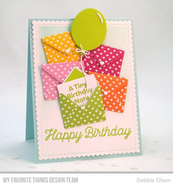 A Tiny Birthday Note Mft Sending Birthday Wishes Card Kit Handmade Birthday Cards Paper Cards Kids Birthday Cards