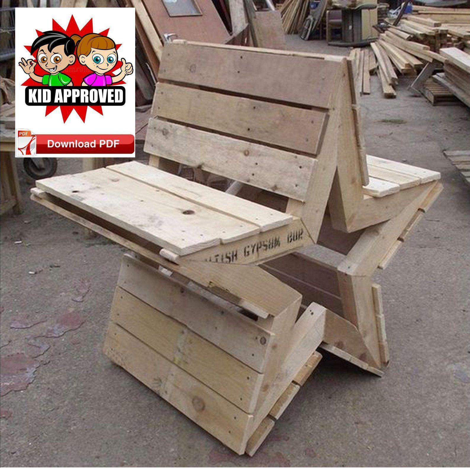 Garden Bench Plan/Pallet Bench Plan/Wood Bench Plan/Rustic ...