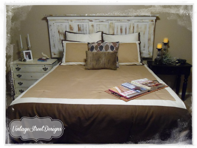 Tutorial on how to make a headboard from an old 5 panel ...