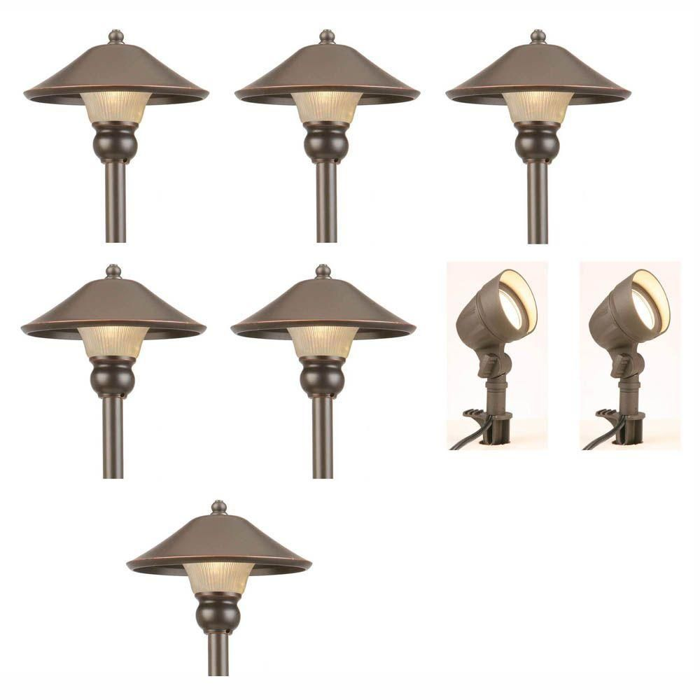 Hampton Bay Low Voltage Bronze Outdoor Integrated Led