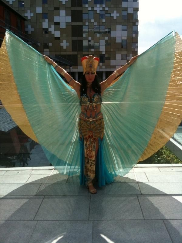 A Cleopatra Costume With Wings
