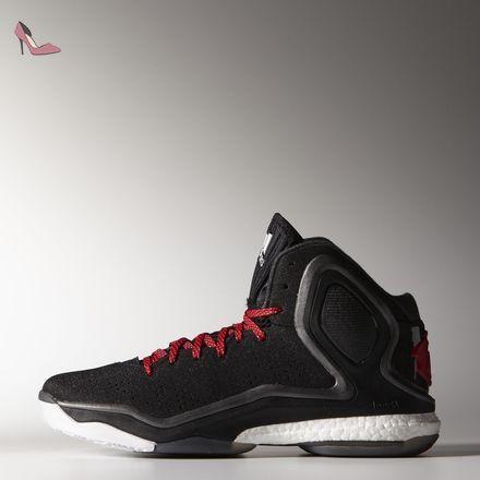 ... Adidas performance Derrick Rose 5 Boost Chaussures de Basketball Noir  Rouge pour homme torsion System, ...