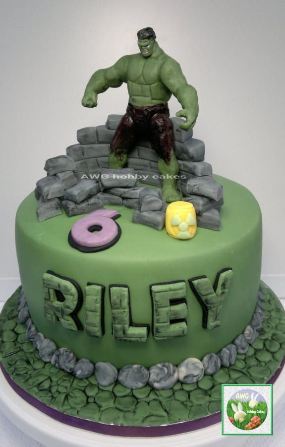 Incredible Hulk for Riley Cake by AWG Hobby Cakes Zogica board