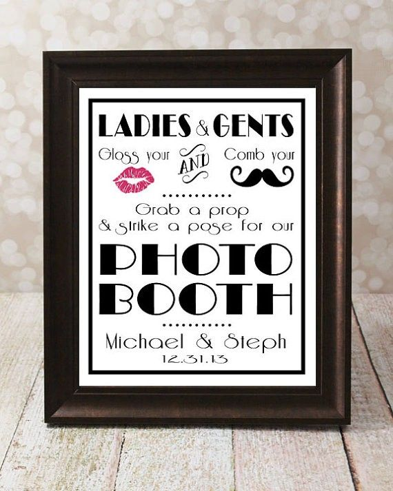 DIY Wedding Signage Printable reception signs for wedding