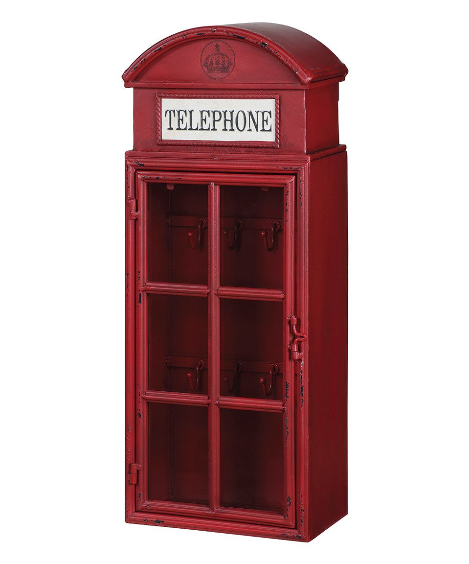 Look what I found on #zulily! Red Telephone Wall Cabinet by Creative Co-Op #zulilyfinds