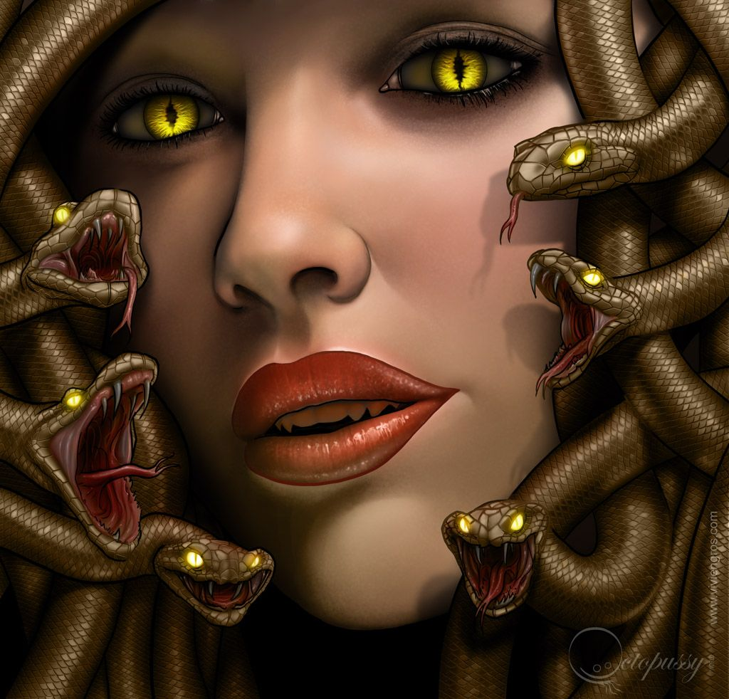 Greek Mythical Creatures Medusa Gorgon by Viviengros T...