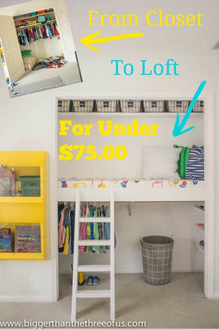 This Closet Was Transformed To A Usable Storage And Play Loft For Under 7500 Ideas KidsCloset