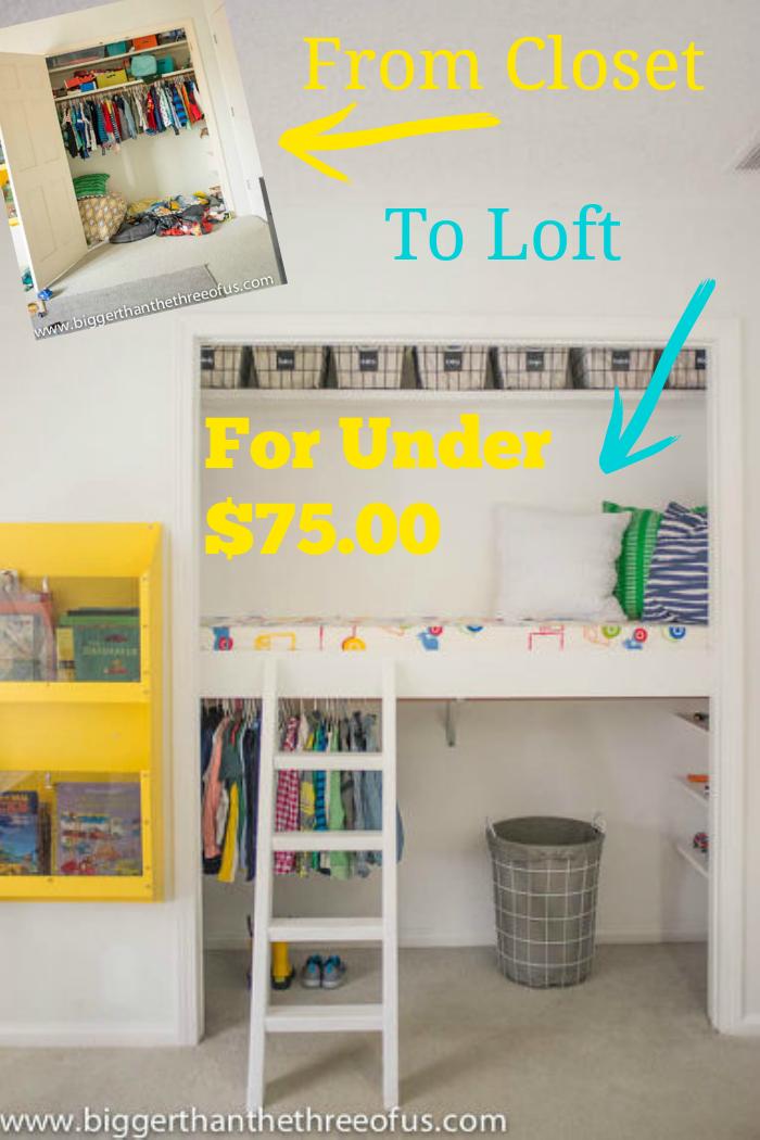 How To Make A Diy Closet Loft Closet Nook Kid Closet Diy Closet