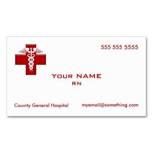 nurse caduceus business card business cards card templates and