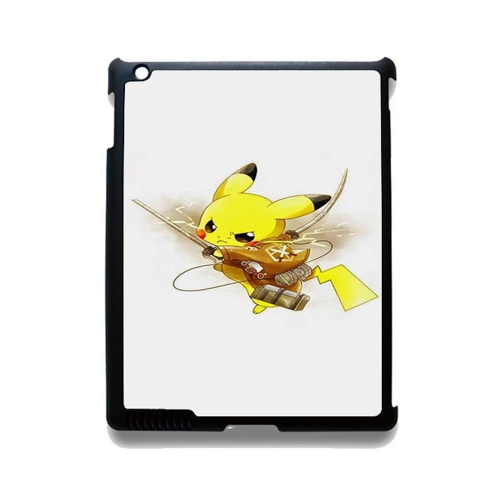 Pokemon Pikachu Attack Onbtitan Shingeki No Kyojin TATUM-8830 Apple Phonecase Cover For Ipad 2/3/4, Ipad Mini 2/3/4, Ipad Air, Ipad Air 2
