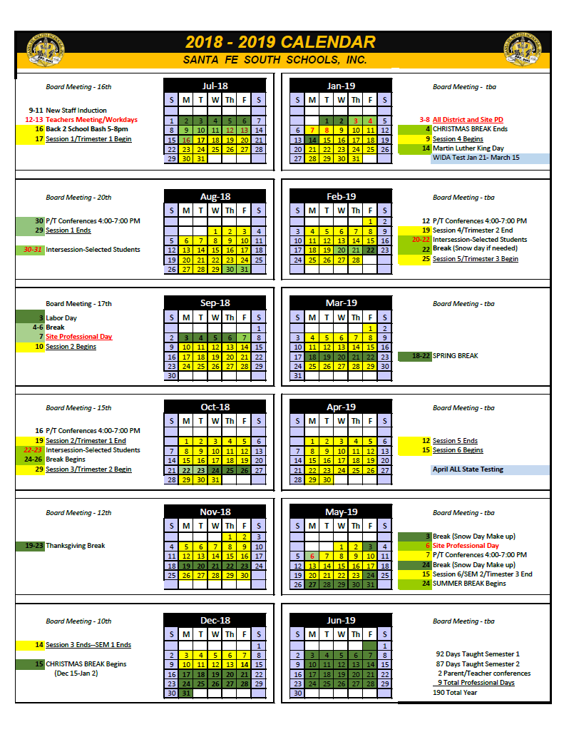 Pin by Calendar on Academic Calendar in 2019   Report template