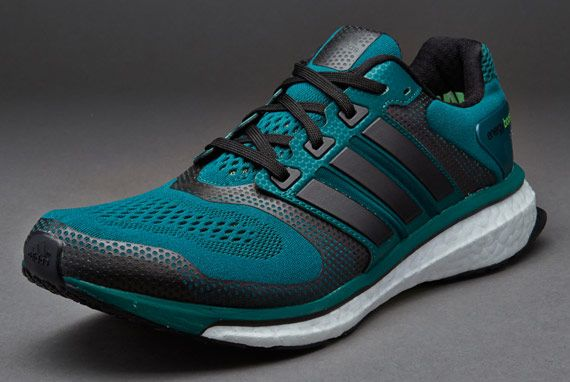 adidas Energy Boost 2 ESM  Mens Shoes  Rich GreenBlackNeon Green