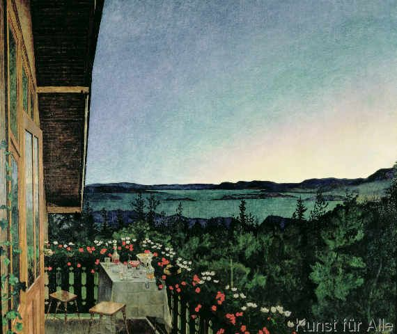Sohlberg Summer Night 1899 Kunstdruck Leinwandbild
