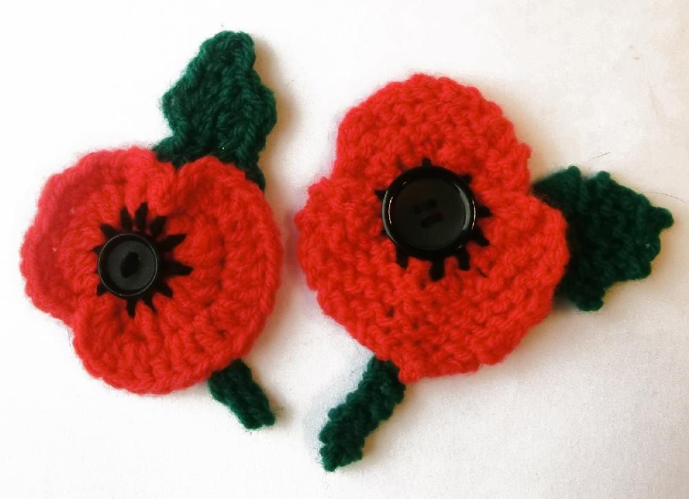 Remembrance Day Poppy Free Knitting Pinterest Knitting Knit