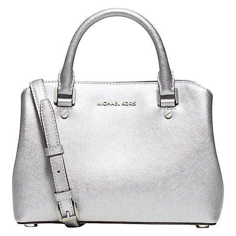 d0d5cf0b1725 Buy MICHAEL Michael Kors Savannah Small Leather Satchel Online at johnlewis .com