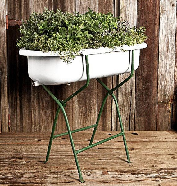 Antique European Baby Bathtub with Stand, Porcelain and Cast Iron ...