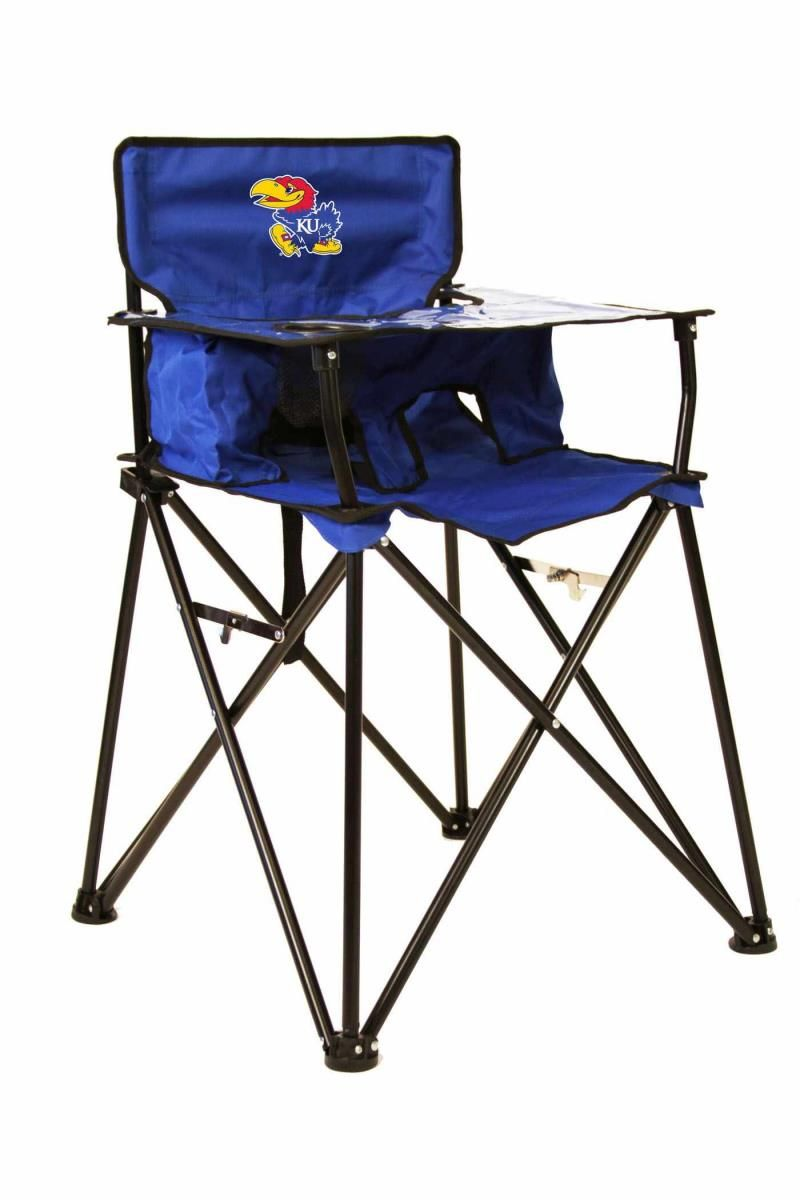 Portable Folding High Chair Stacking Patio Chairs Kansas Jayhawks Ncaa Tailgating Baby