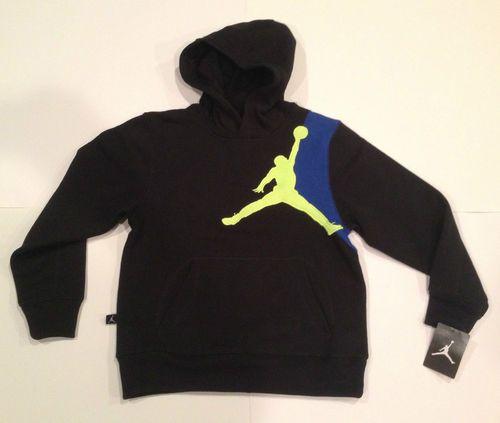 Nwt boys nike air jordan jumpman black hoodie sweatshirt