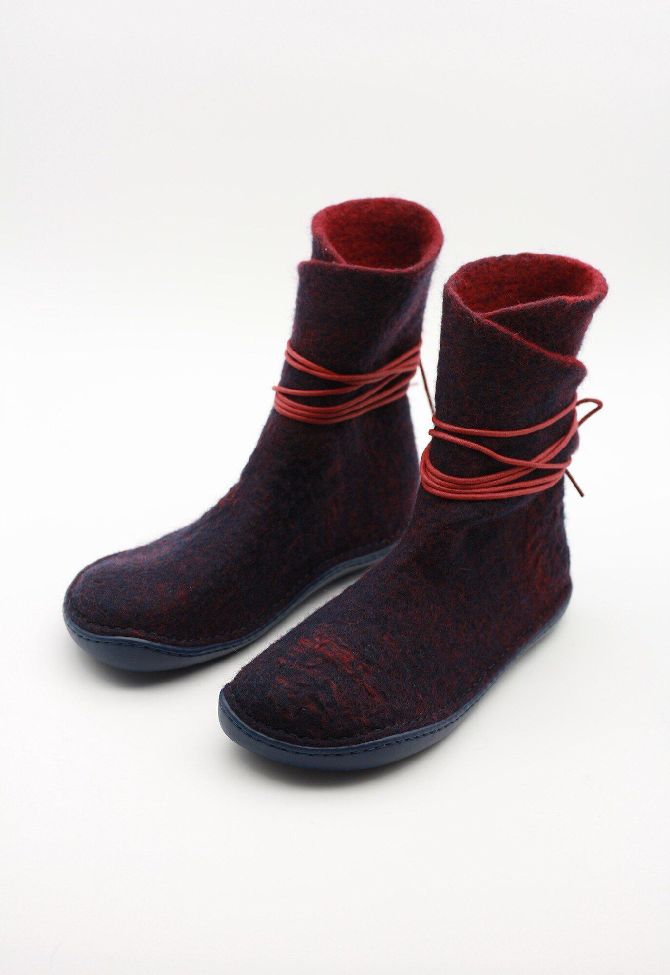 2d649b3575799 LUCIELALUNE Handmade felted wool women strapped boots eco fashion ...