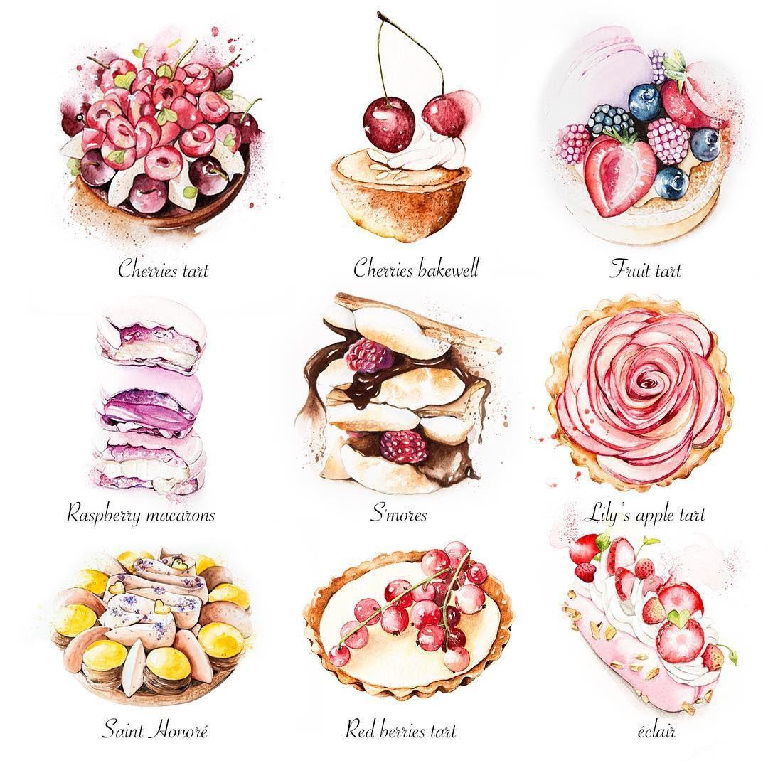 Enya Todd Watercolor Pastries