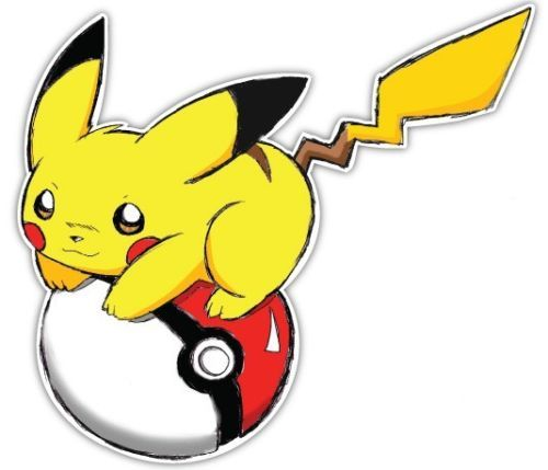 Pokemon pikachu decal either for my car window or my entertainment room