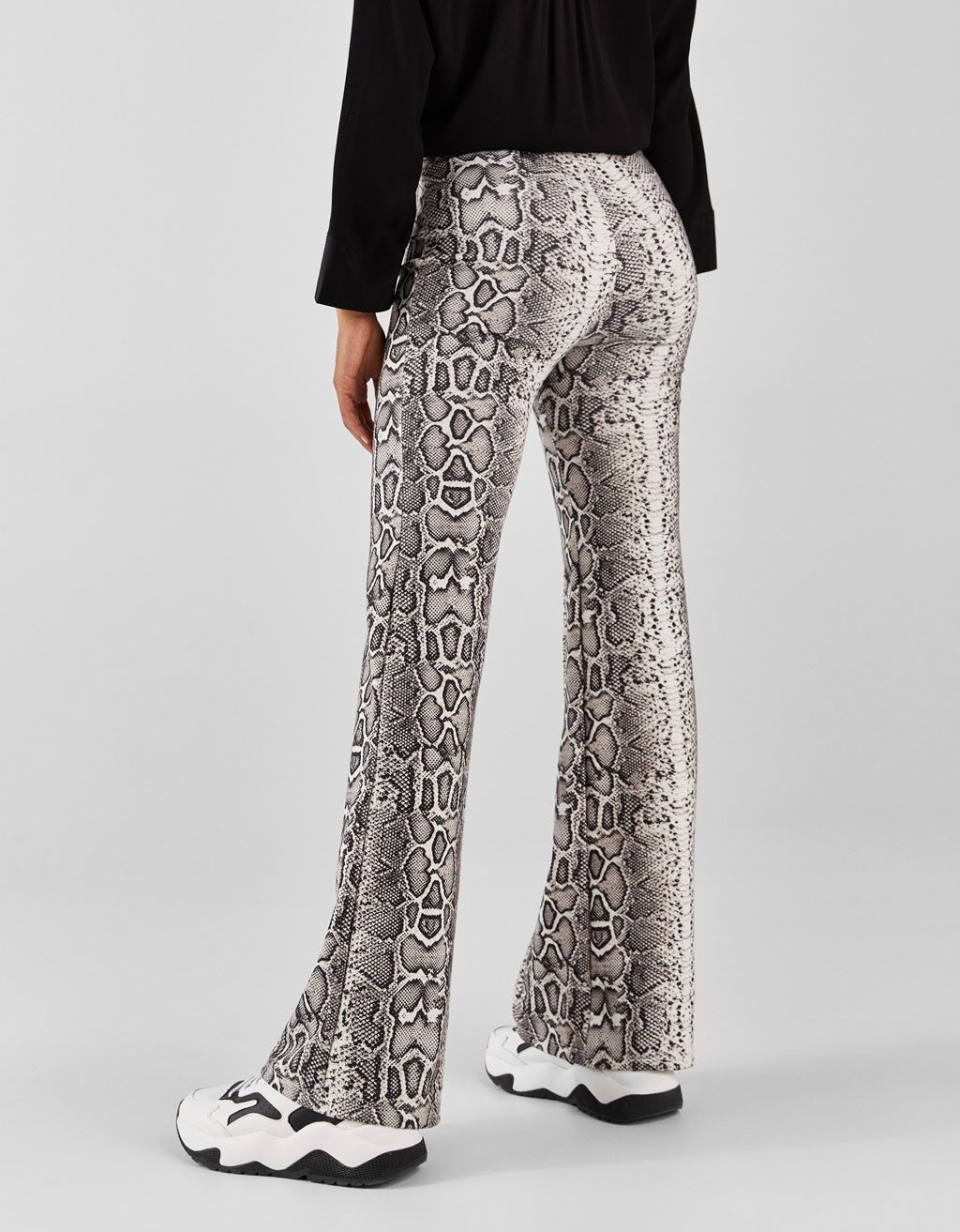 74fbefa0d Flared leopard print trousers in 2019 | Fashion | Leopard print ...