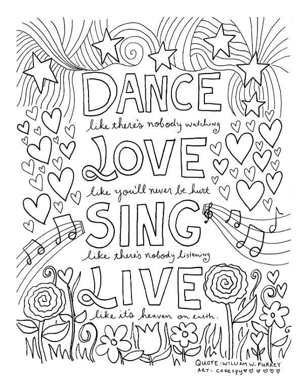 Inspiring Quotes Coloring Pages