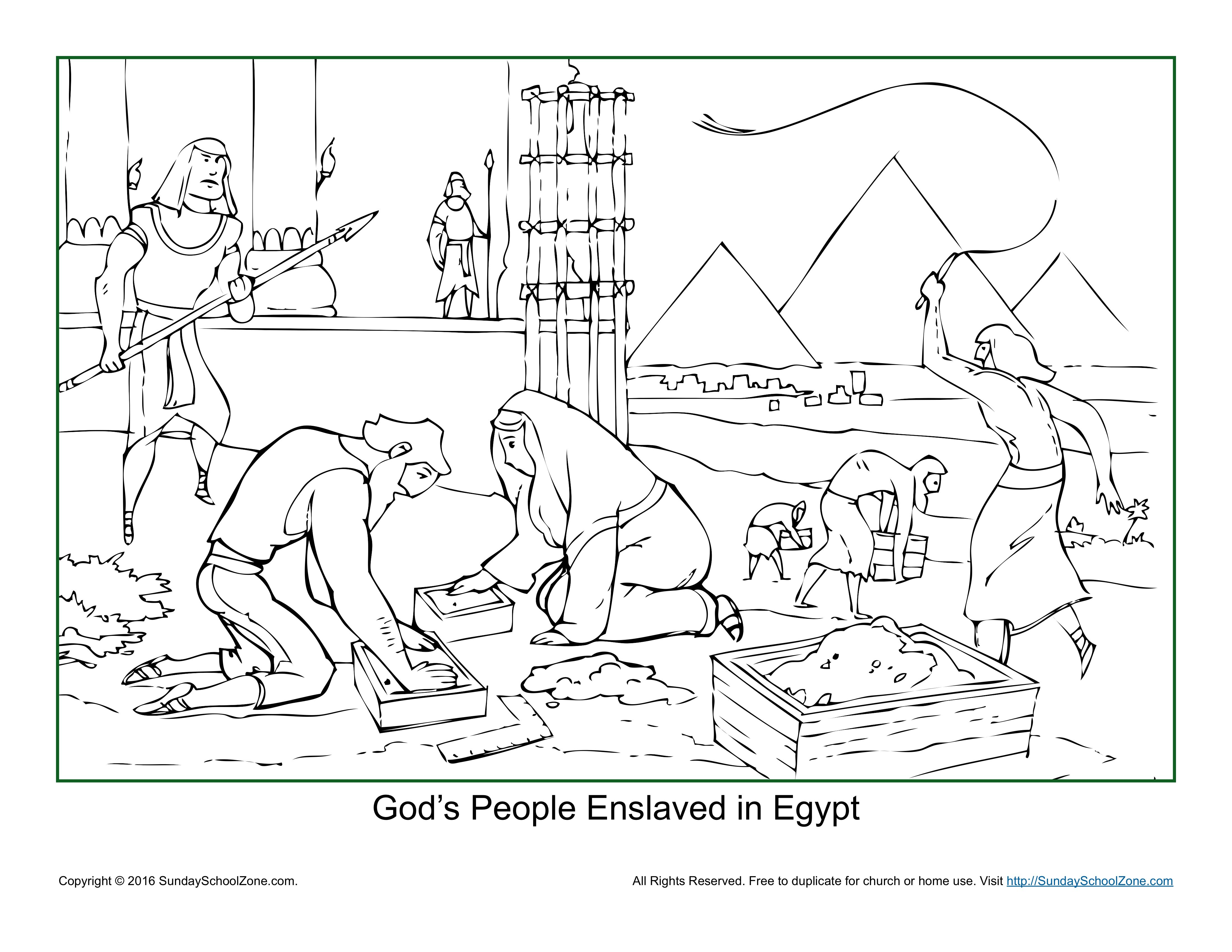 God S People Enslaved In Egypt Coloring Page