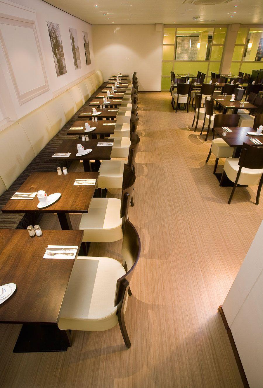 interior restaurant interior decor idea with rectangular brown - Linoleum Restaurant Interior
