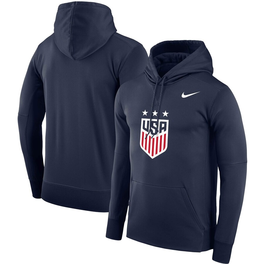 Uswnt Nike Crest Therma Pullover Performance Hoodie Navy Performance Hoodie Hoodies Mens Winter Hoodies