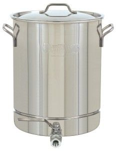 10 Gallon Stainless Kettle With Ball Valve Bayou Classic Stock Pot Steel Stock