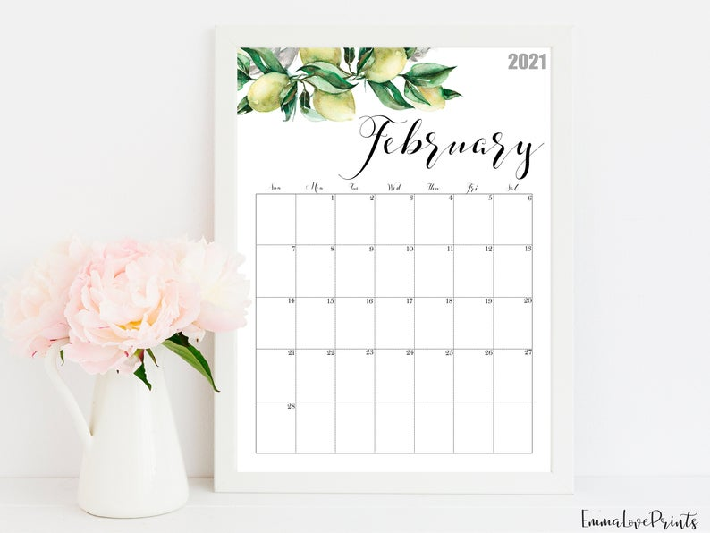 2021 Calendar Watercolour Calendar 2021 Botanical Wall Etsy Wall Calendar Watercolor Calendar Calendar Printables