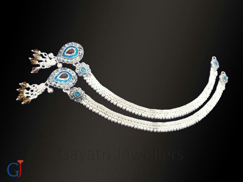 Traditional silver payal , latest fancy designer payal #anklets ...
