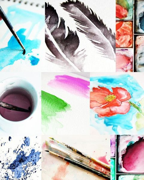 Watercolor Bliss Online Class Art Watercolor Art Tutorials