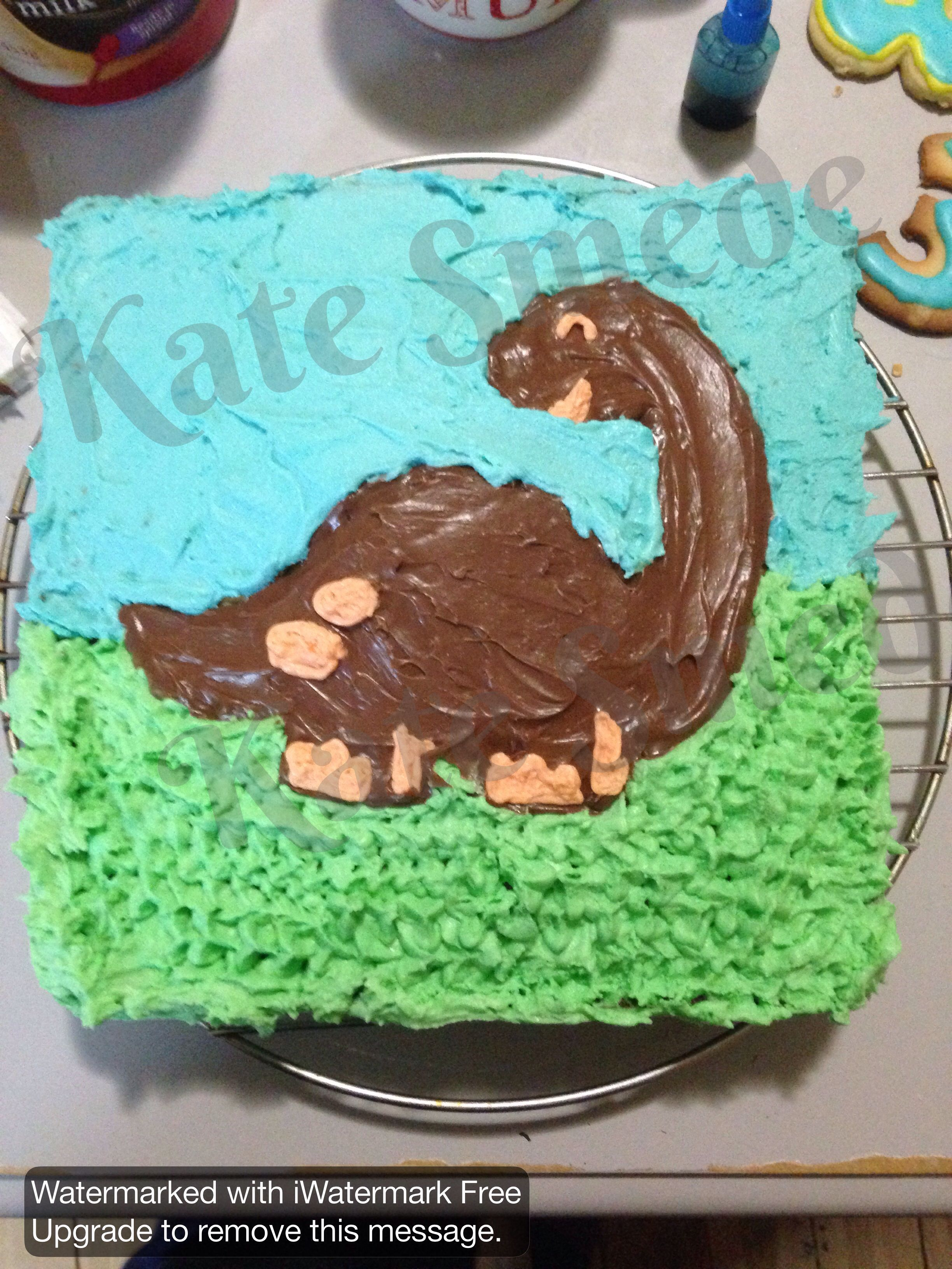 Dinosaur birthday cake Template for Dino cut on cameo Silhouette