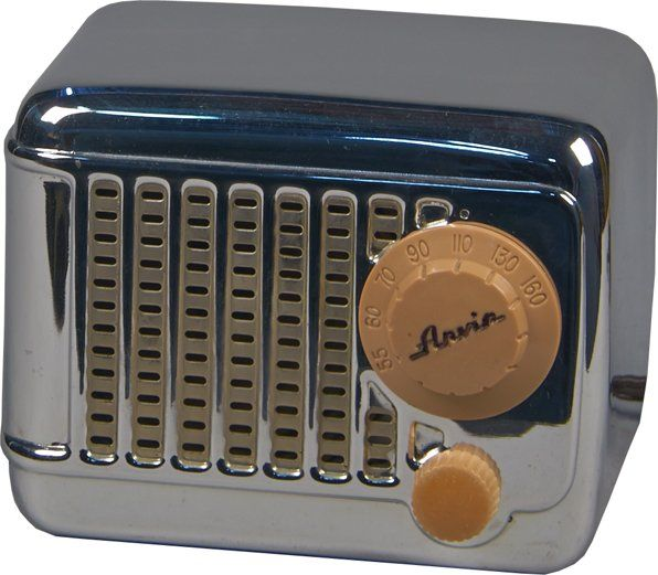 Arvin Metal Tabletop Mini AM Radio : Lot 1263