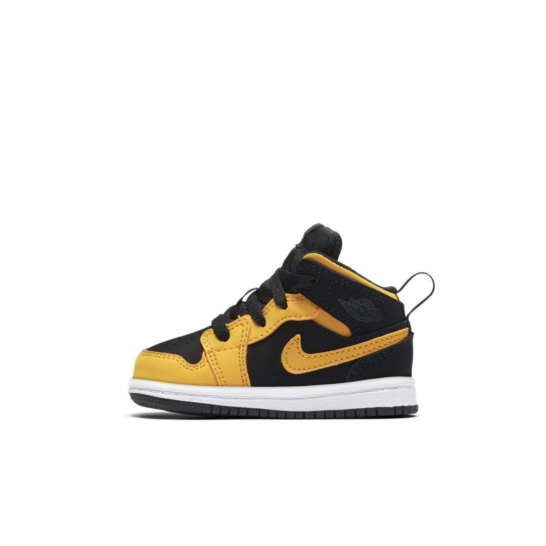 296181f6d6bd Air Jordan 1 Mid Infant Toddler Shoe Size 6C (Black)