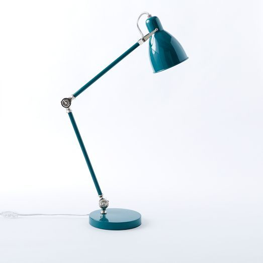 Industrial Task Table Lamps West Elm Blue Or Yellow Selfspace
