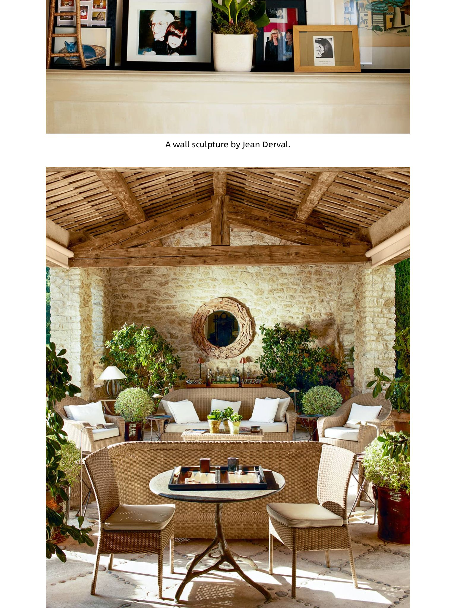 """""""A Place in the Sun/Catroux"""" from ELLE Decor, September"""