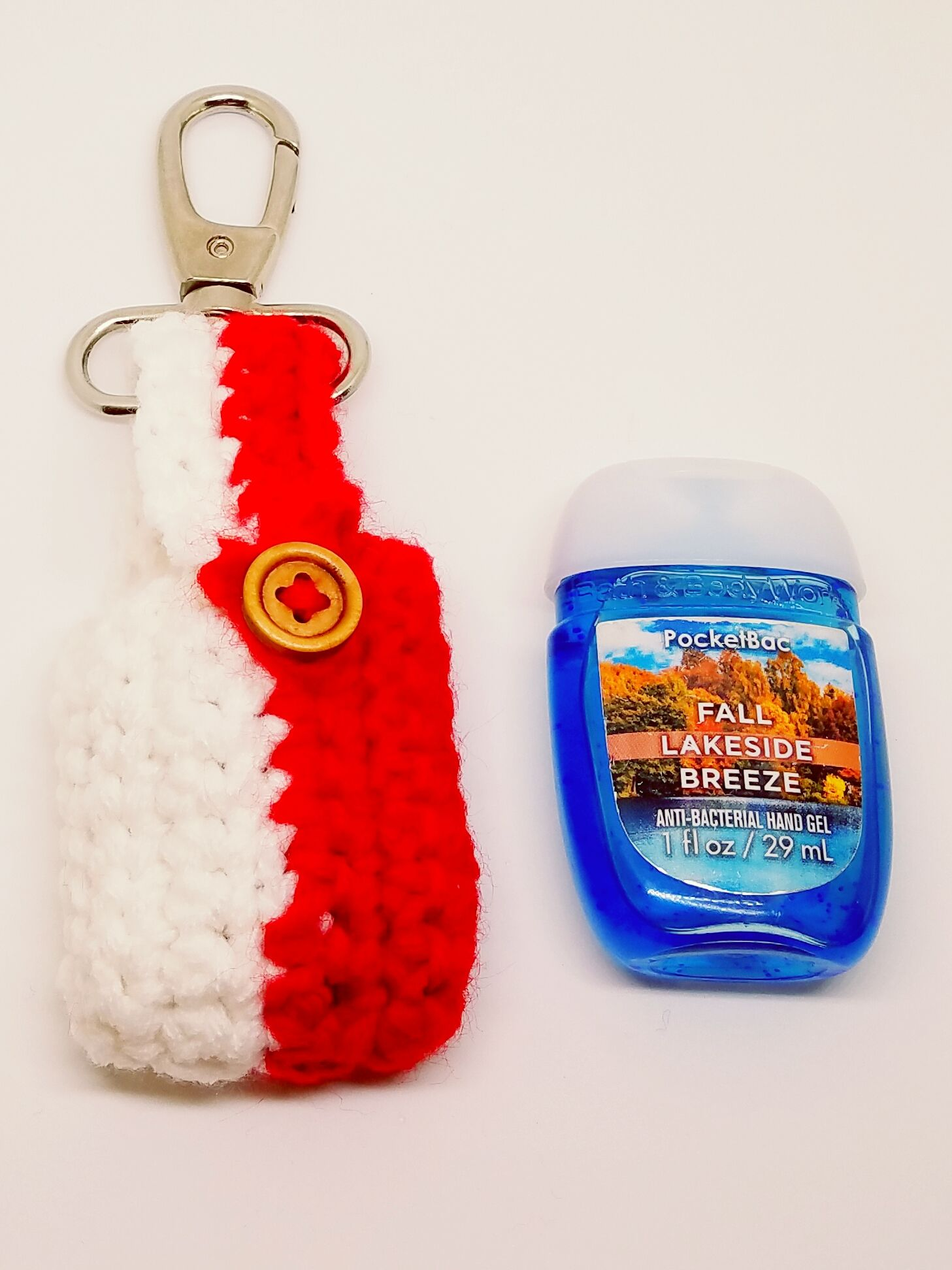 Valentine S Day Crochet Red And White Hand Sanitizer Holder